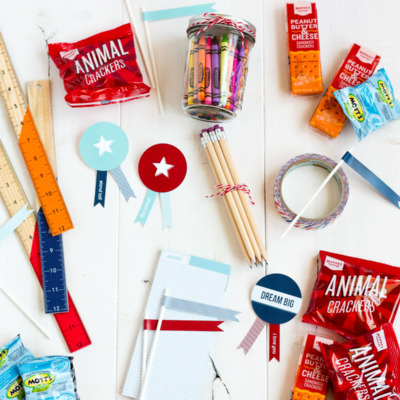 Make a back-to-school care package to send to your favorite scholars!
