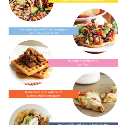 5 menu ideas to help inspire your weeknight dinner menu planning!