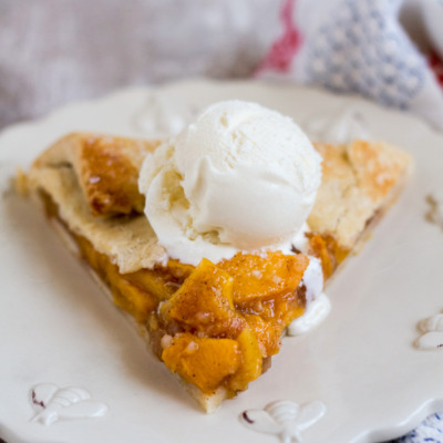 Make this galette, filled with fresh peaches and a hint of spice, and enjoy the last taste of summer!