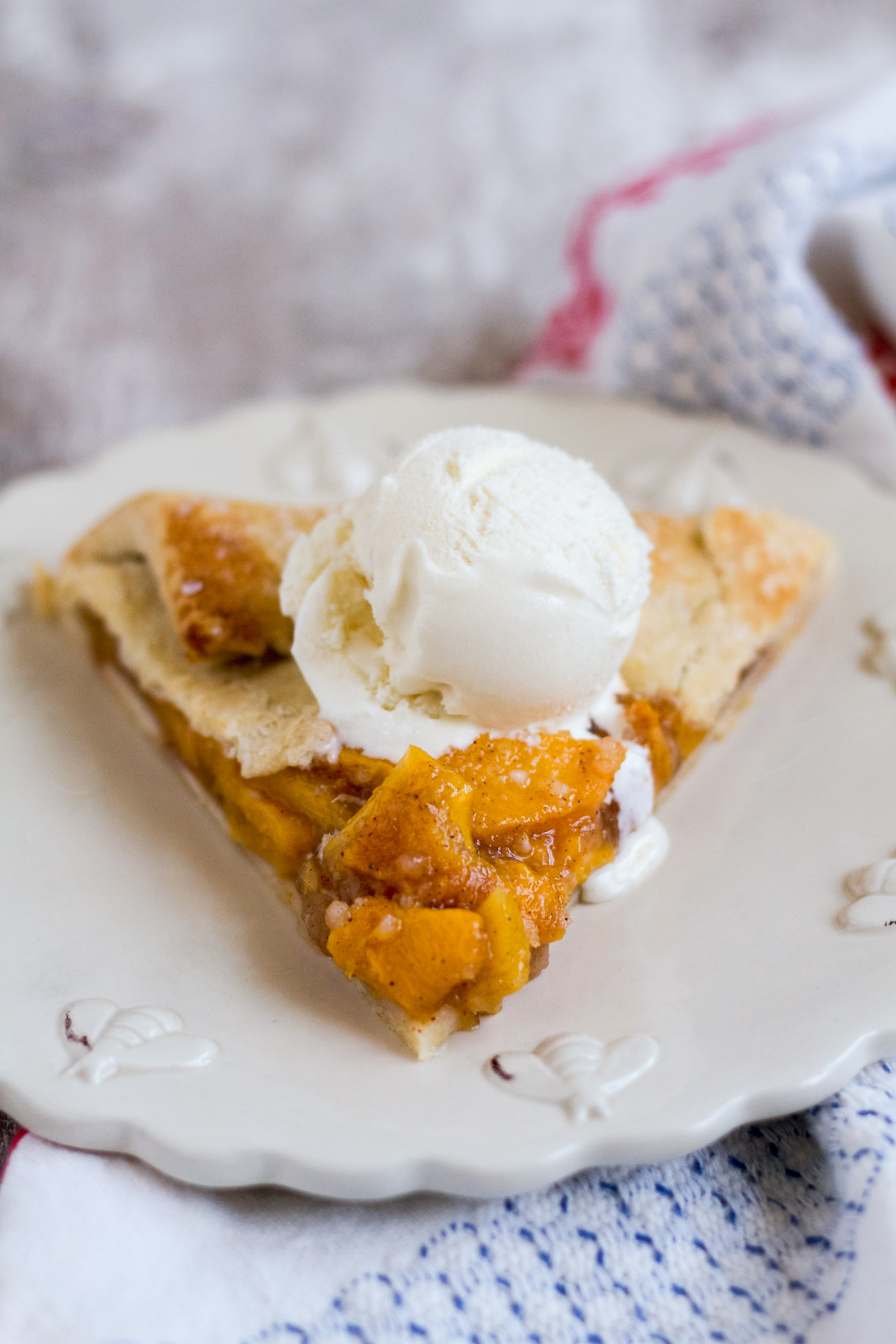 Make this sweetly spiced fresh peach galette, and enjoy one last bite of summer!