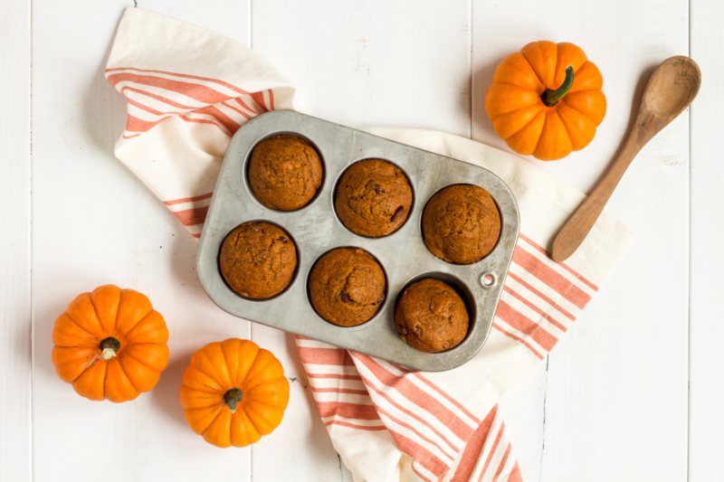 Classic Pumpkin Chocolate Chip Muffins