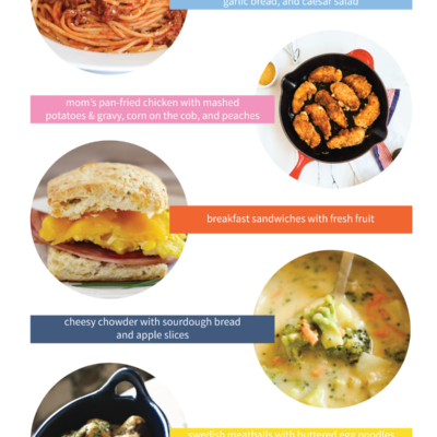 This Week's Menu Ideas features 5 ideas for easy, family-friendly weeknight dinners!