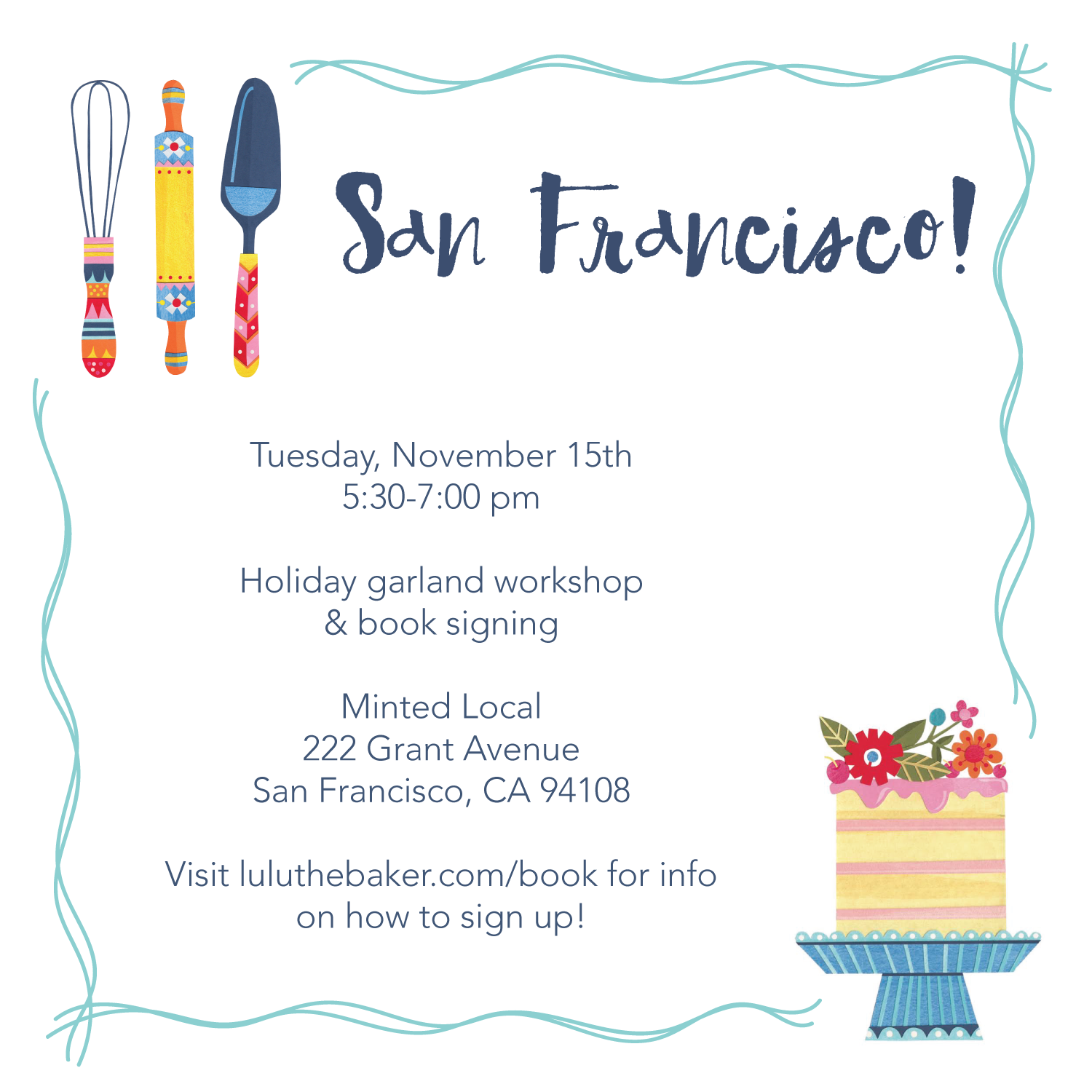 Scandinavian Gatherings book events: come make cute felt holiday garlands with me on November 15th from 5:30-7 pm at Minted Local in San Francisco!
