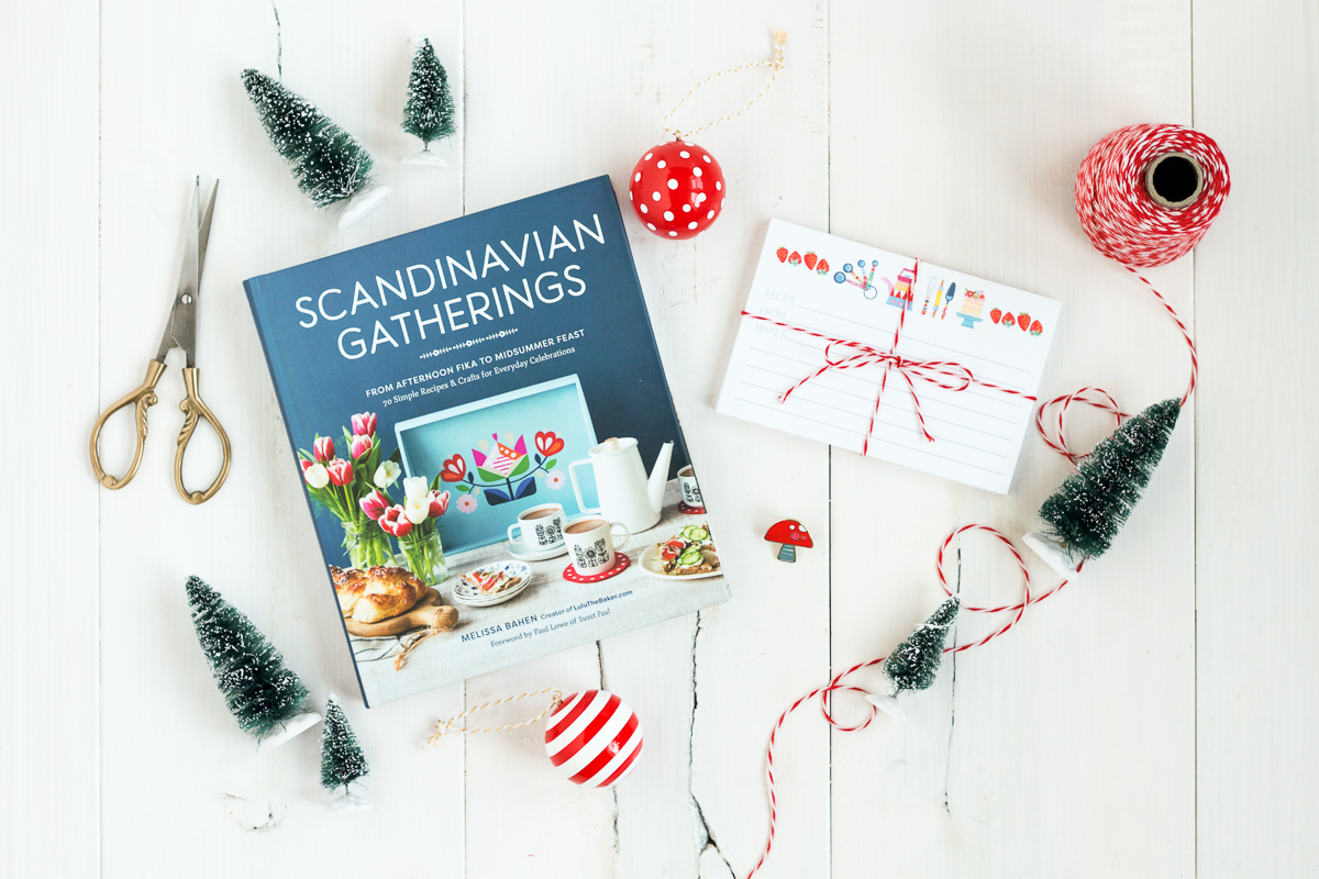 Cute recipe cards and a hard enamel pin from Scandinavian Gatherings.