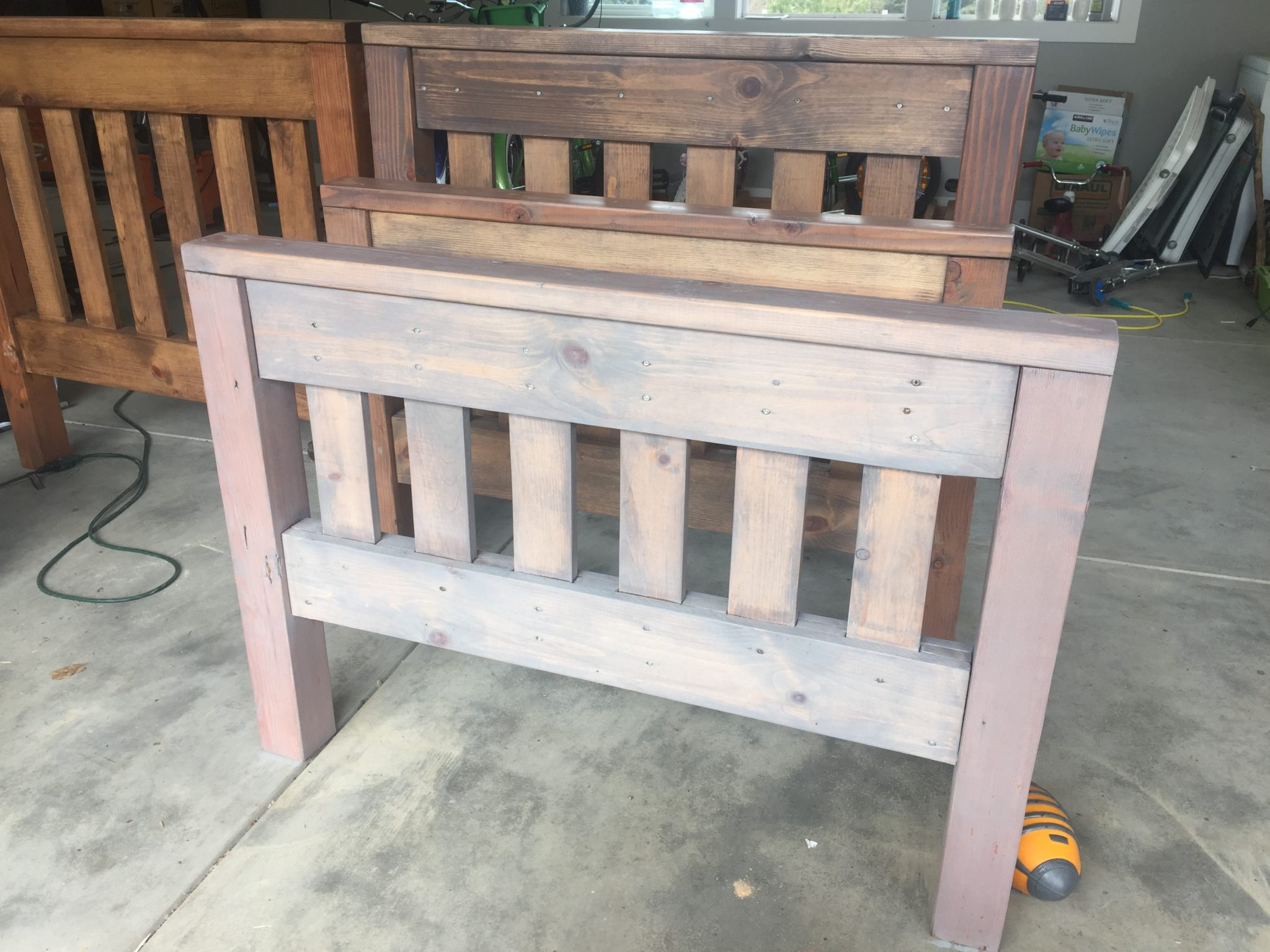 DIY rustic twin beds