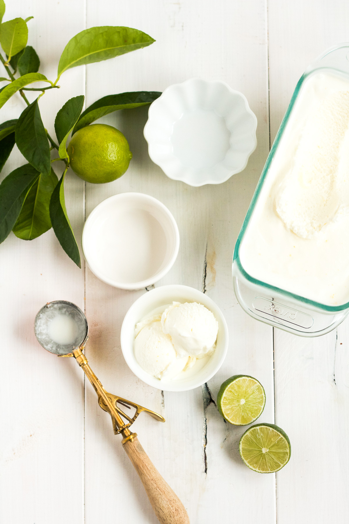 This homemade lime sherbet will knock your socks off!