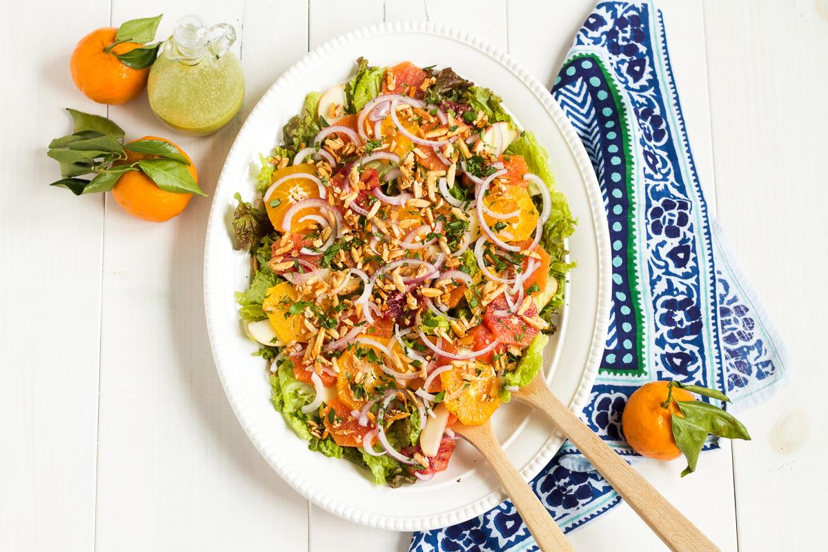 Red Leaf Lettuce Salad with Raspberry Citrus Vinaigrette + Vitamix Giveaway