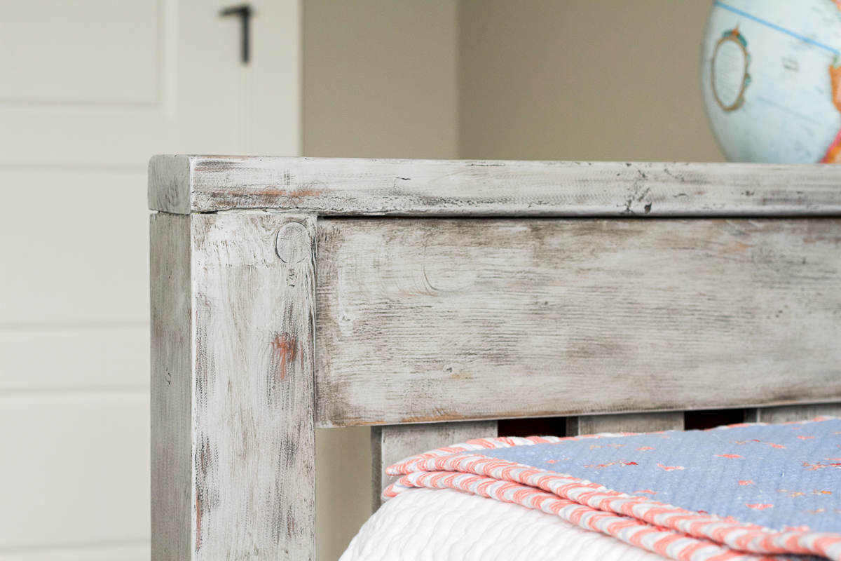 Find out how to use chalk paint and wax to make new wood look rustic and weathered.