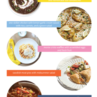 5 menu ideas for fast, family-friendly dinners you can make on even the busiest weeknights!