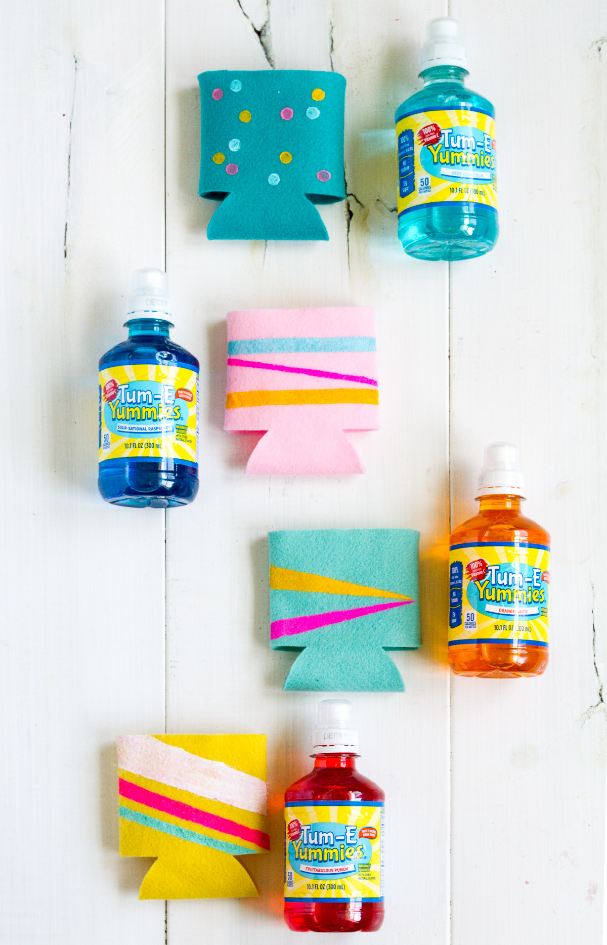 Make these cute and cozy DIY drink holders!