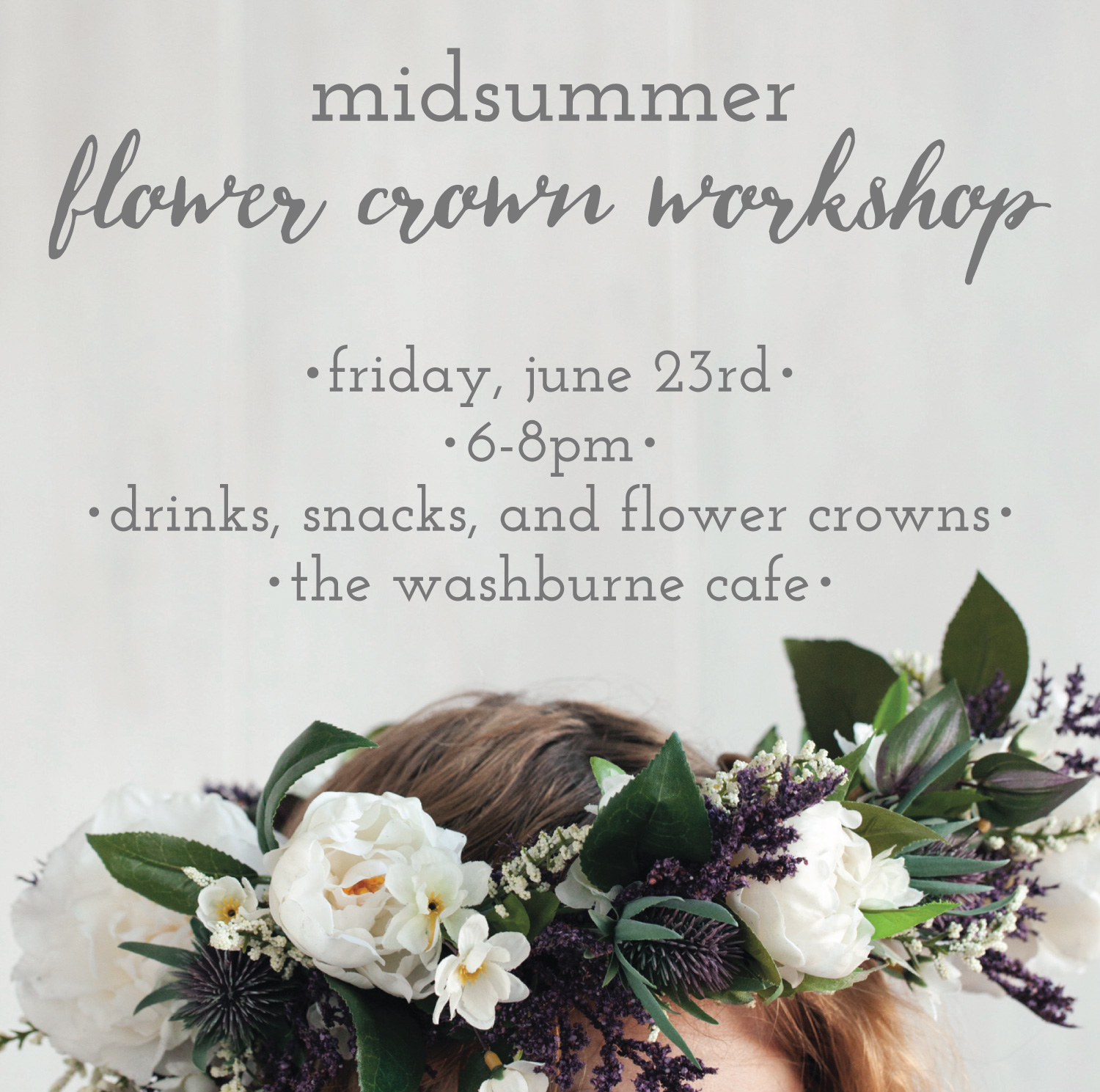 Midsummer Flower Crown Workshop Lulu The Baker