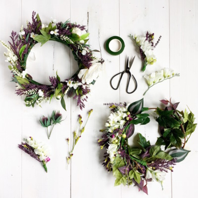 Celebrate Midsummer by making gorgeous flower crowns! You can use either fresh or silk flowers.