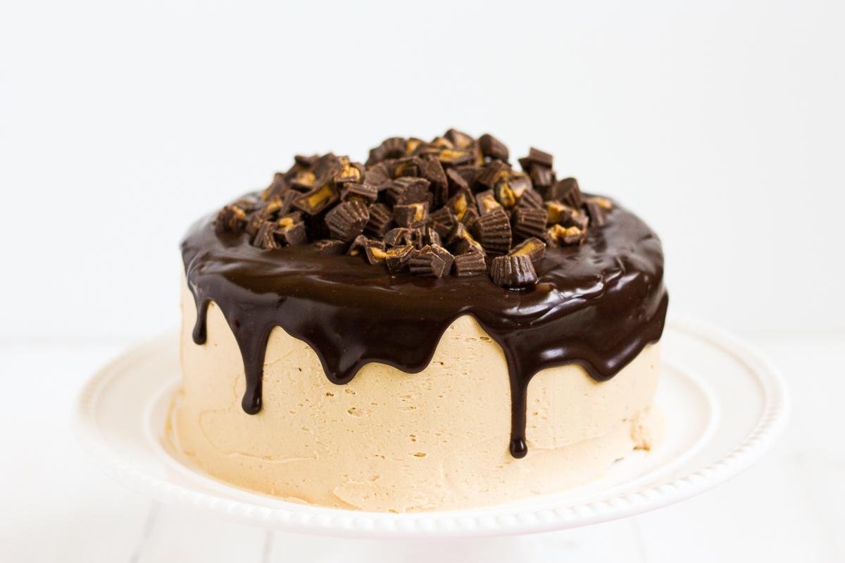 Peanut Butter Chocolate Layer Cake - Lulu the Baker