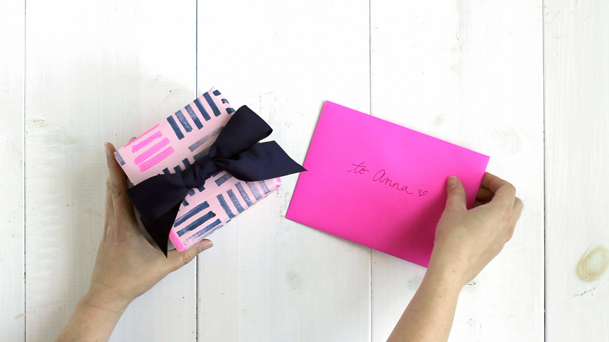 Make your own block-printed wrapping paper!
