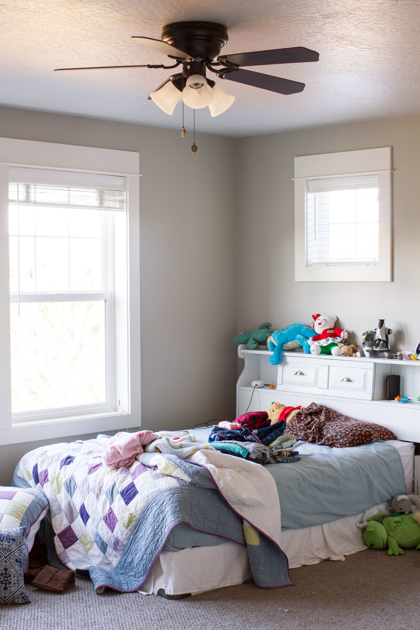 Our One Room Challenge project for Fall 2017 is our oldest daughter's bedroom. These before pictures show how desperately she needs a bedroom makeover!