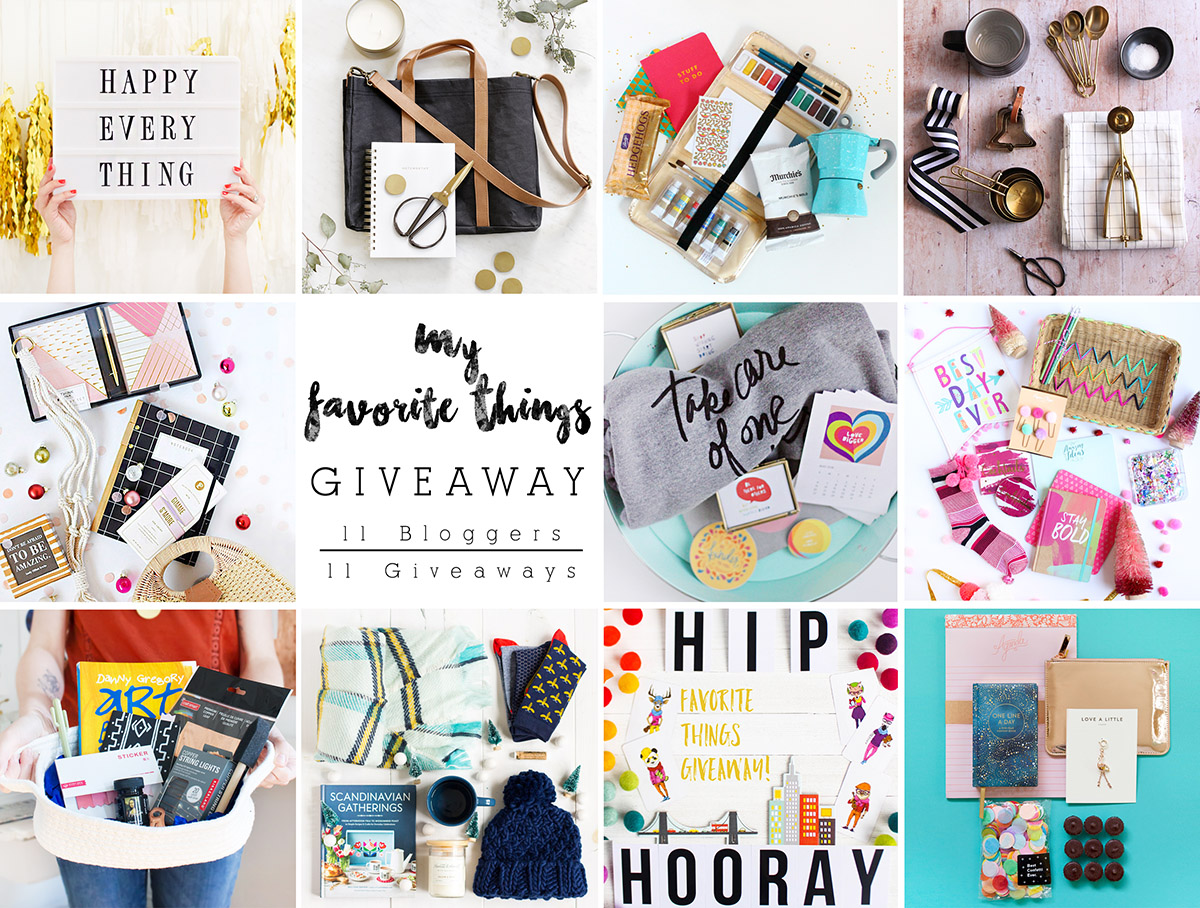 I've teamed up with 10 other bloggers in a My Favorite Things Giveaway extravaganza!