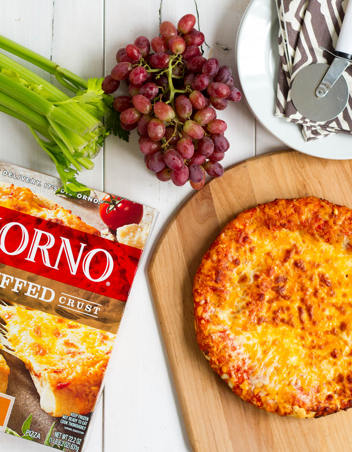 When we have a really busy weeknight come up, or we need a quick and easy dinner that the babysitter can fix for the kids, DiGiorno Cheese Stuffed Crust Five Cheese Pizza is our go-to! Everyone loves it, and the crust is preservative free. Paired with a side salad or cut up fruits and veggies, it makes a wholesome and deliciously easy dinner.