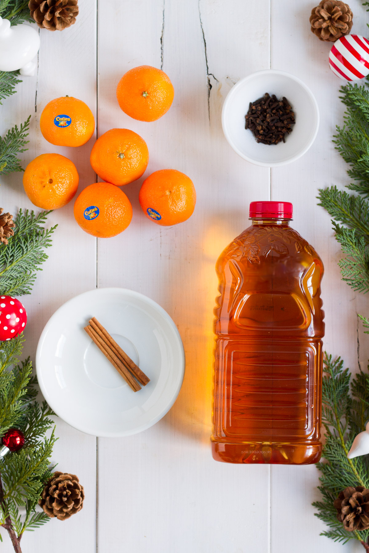 These easy spiced cider with cinnamon, cloves, and cuties is a perfect gift to put together for friends, neighbors, and teachers!
