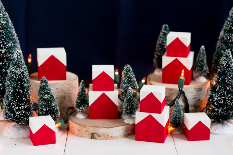 DIY Norwegian Christmas House Blocks