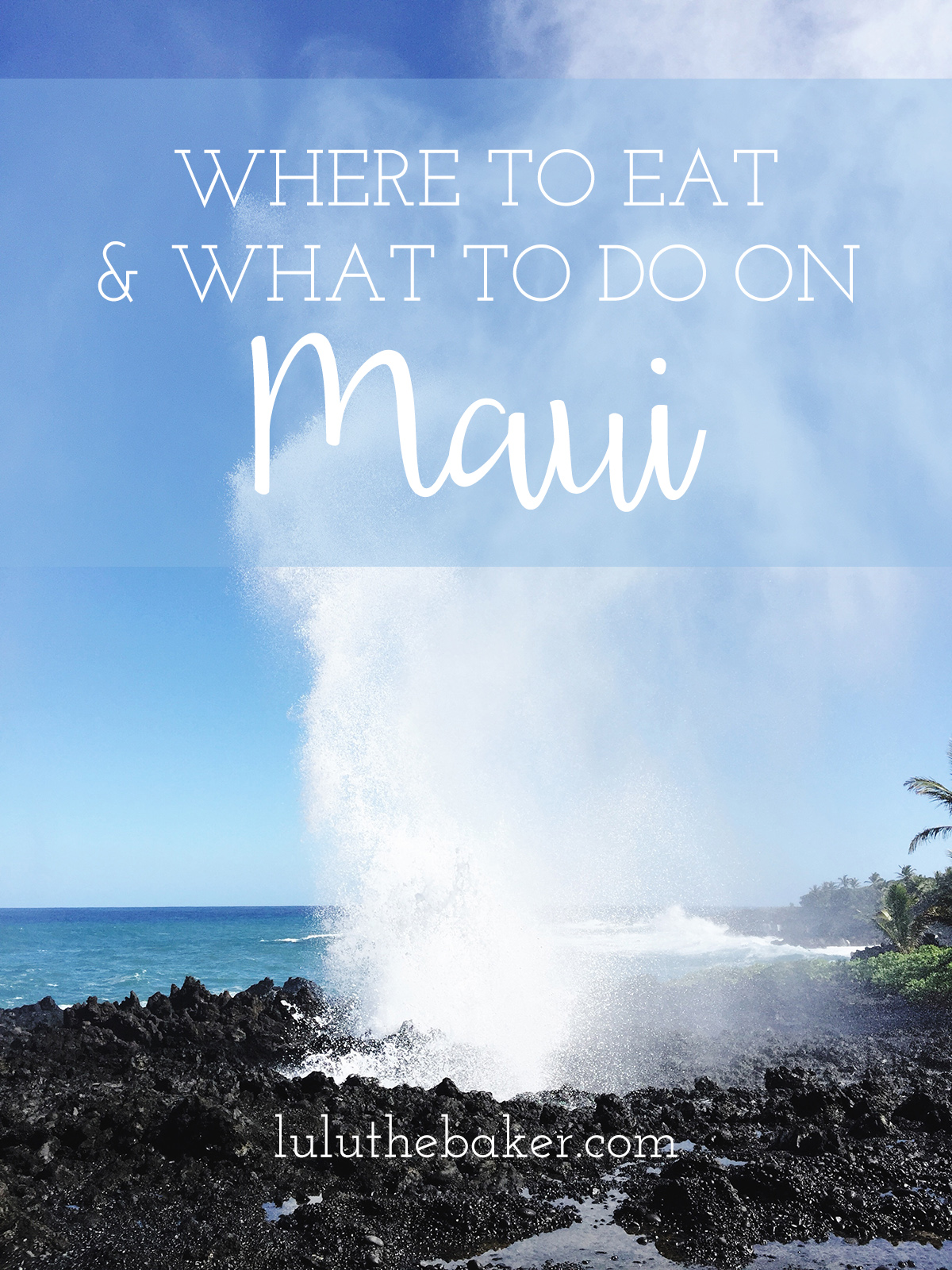 Need to know where to eat and what to do on Maui? Read my recommendations on the blog!