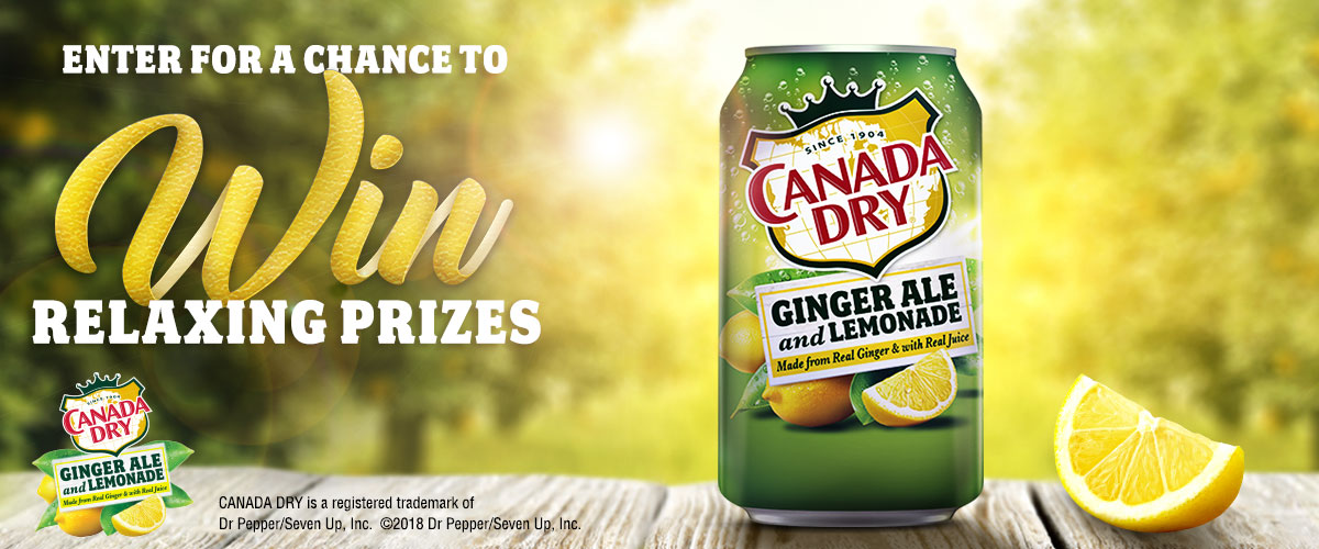 Enter to win fun prizes from Canada Dry!