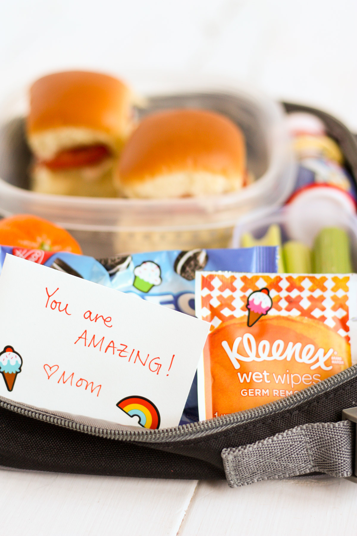 "Download and print this free lunch packing list to help with back-to-school season! Also get two of my kids' favorite lunch ""recipes."""