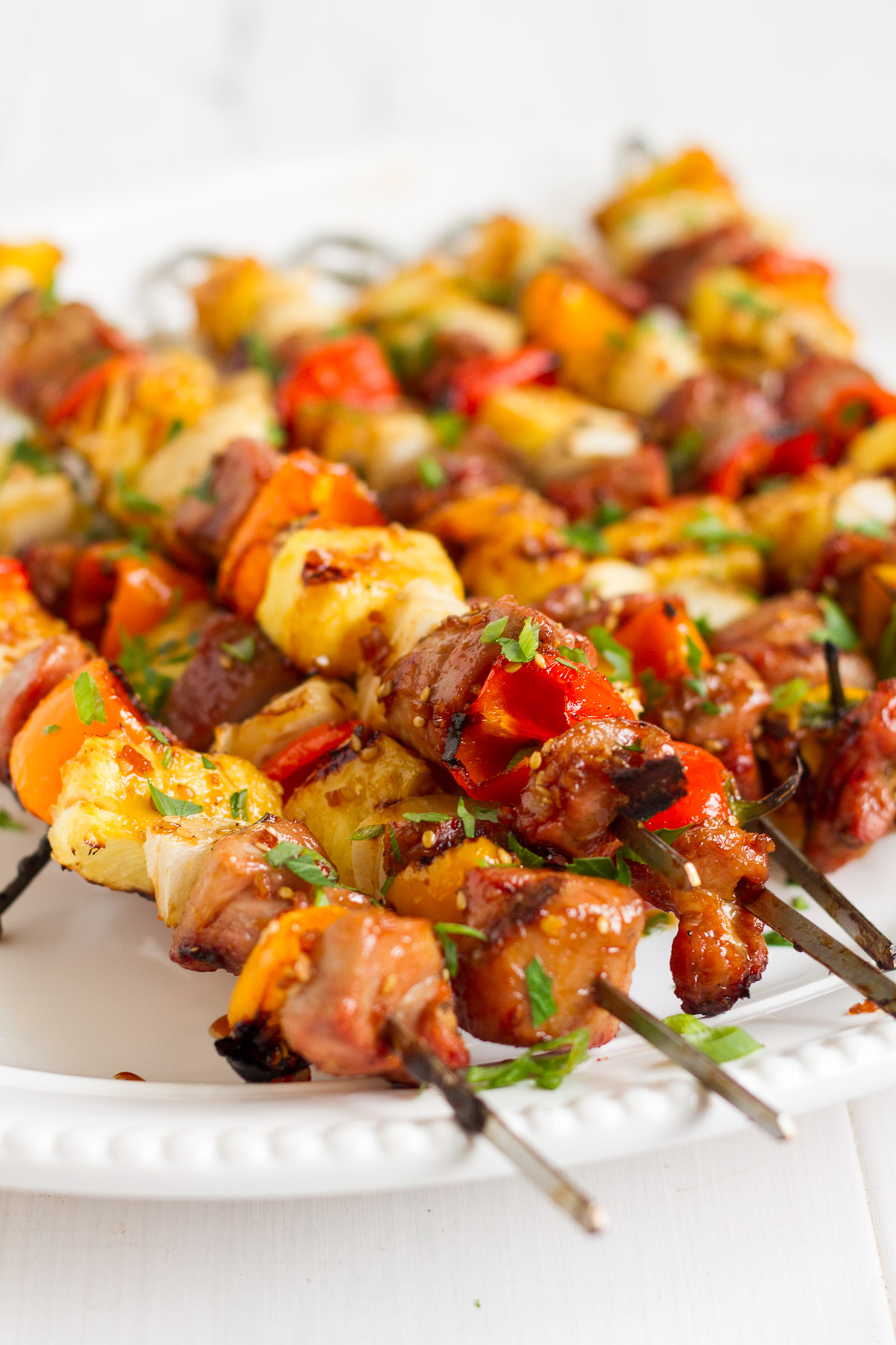 Put these tropical teriyaki skewers--featuring Smithfield Sweet Teriyaki Marinated Fresh Pork Tenderloin--on your menu this week, and you'll have a new favorite dinner the whole family will love!