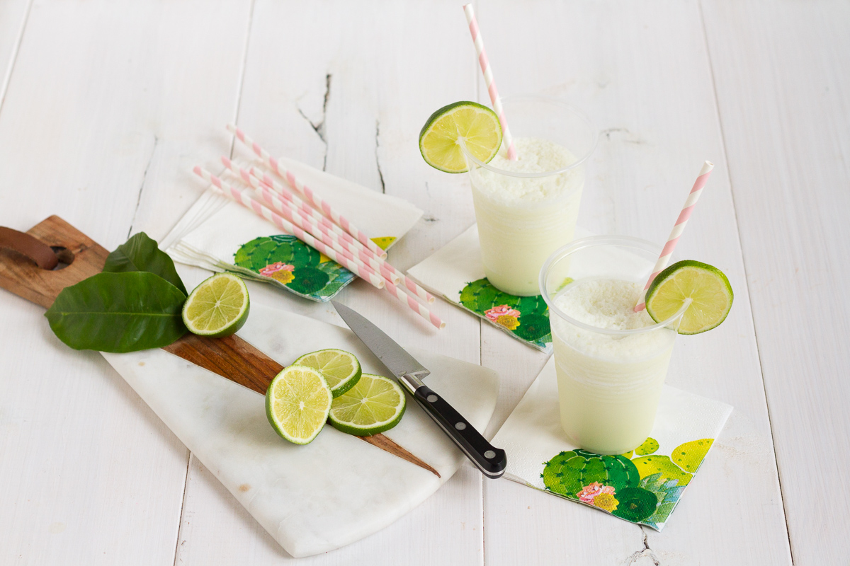 This refreshing limeade is the perfect mix of creamy and frosty, and a sure way to beat the heat this summer!