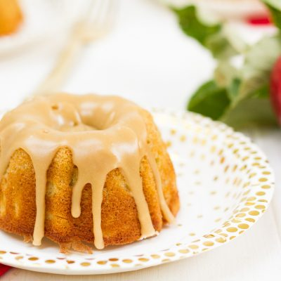These mini bundt cakes combine a few of my fall favorites--tart apples, warm spices, and buttery caramel. They are easy to make, and they taste as good as they look!