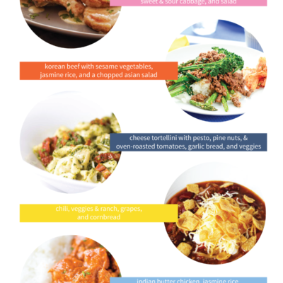 I've rounded up 5 menu ideas to help you plan a week's worth of easy weeknight dinners for your family!