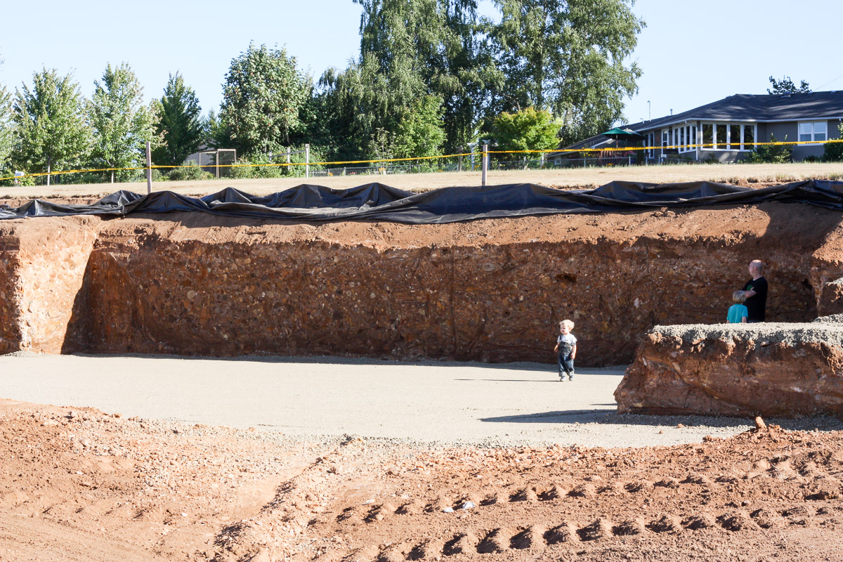 Excavation began on our modern farmhouse in August 2013. Read more about our construction process on the blog!