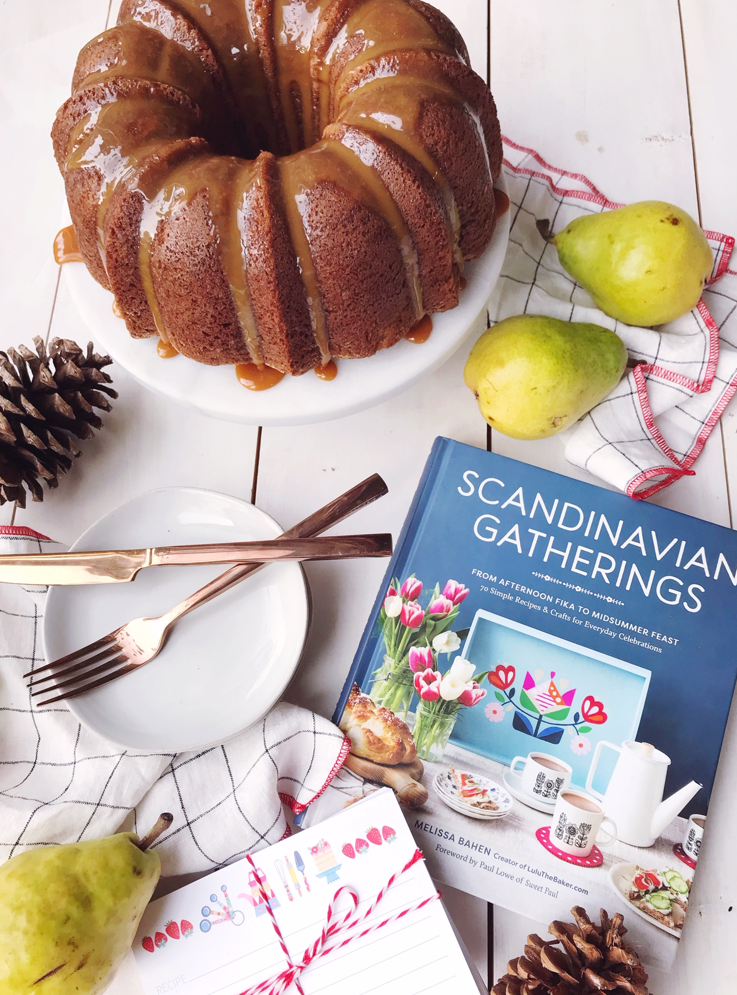 Get the recipe for Spiced Pear Bundt Cake with Caramel Sauce from Scandinavian Gatherings.