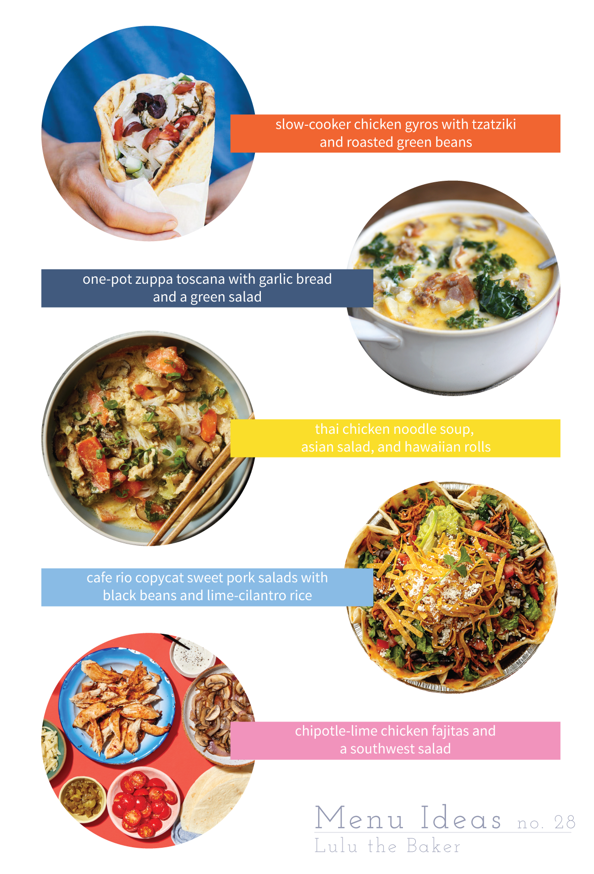 I'm sharing 5 of my favorite menu ideas to help you plan delicious, easy weeknight dinners for your family this week!