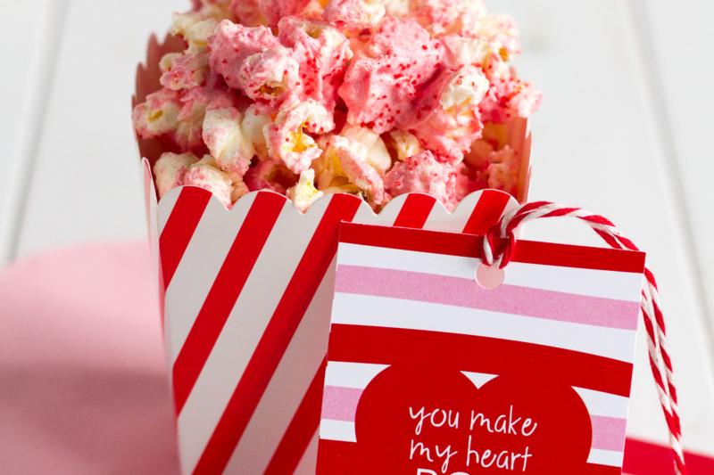 Red Hot White Chocolate Popcorn