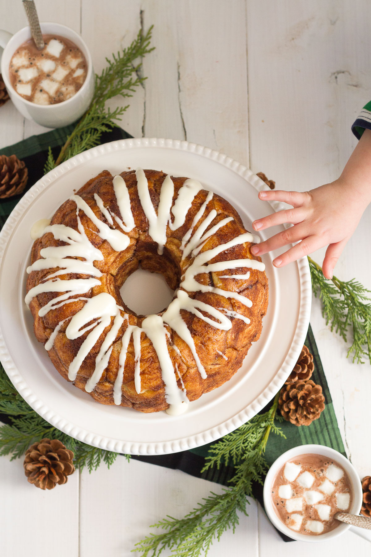Warm, buttery, and covered in sweet cinnamon and sugar, this delicious homemade monkey bread is the perfect treat for chilly weather.