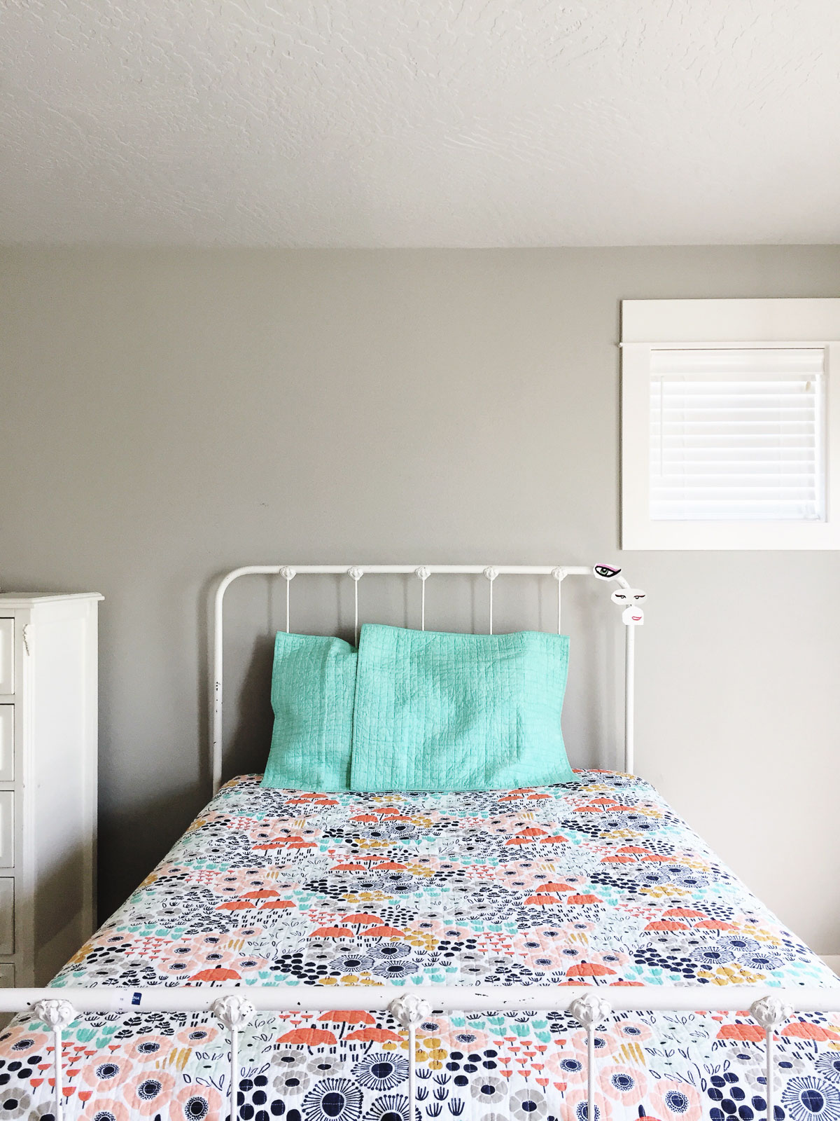 We are almost at the end of the Spring 2019 One Room Challenge, and have just one week left to put all the finishing touches on our daughter's bedroom makeover!