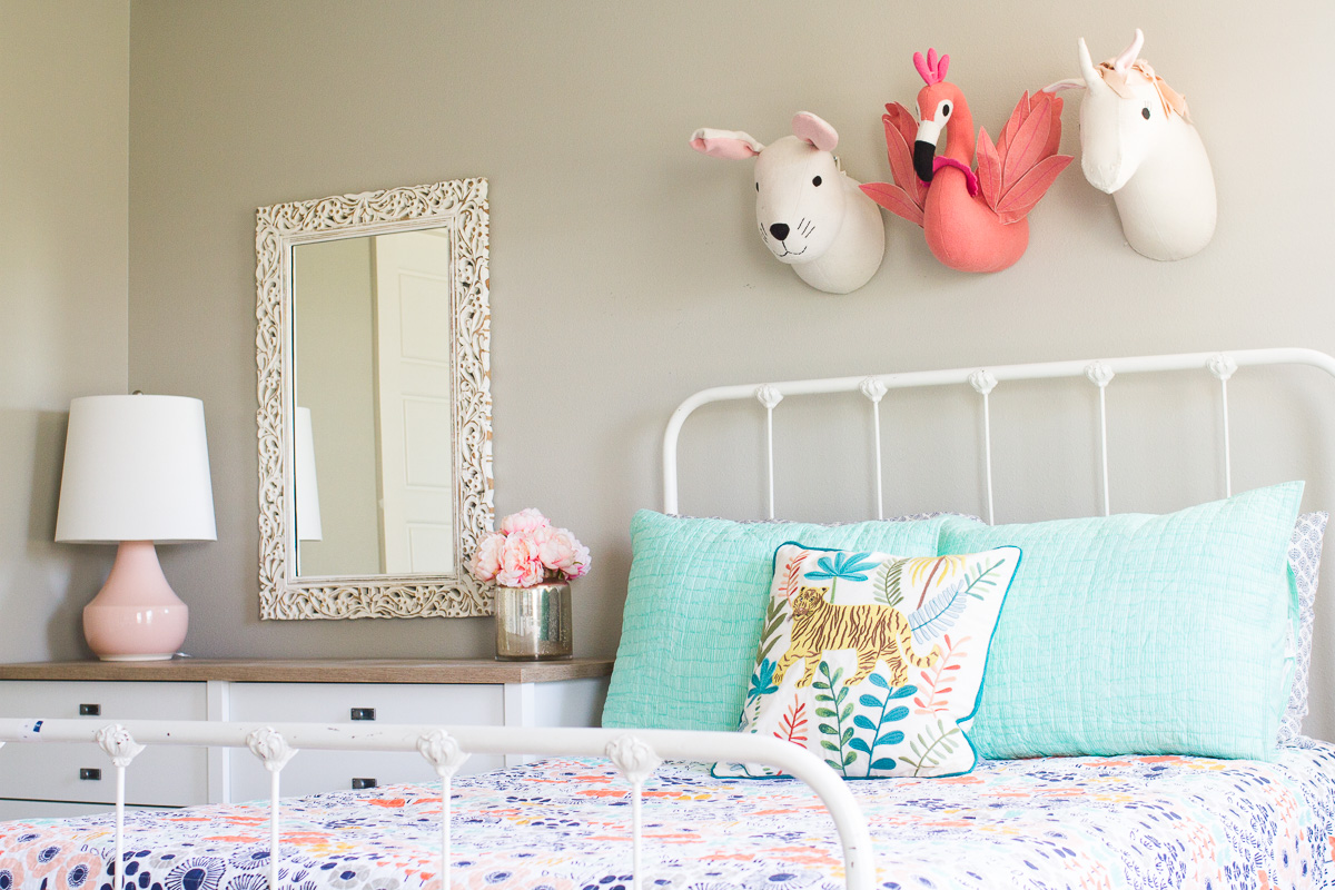 Girl's Bedroom Makeover Reveal