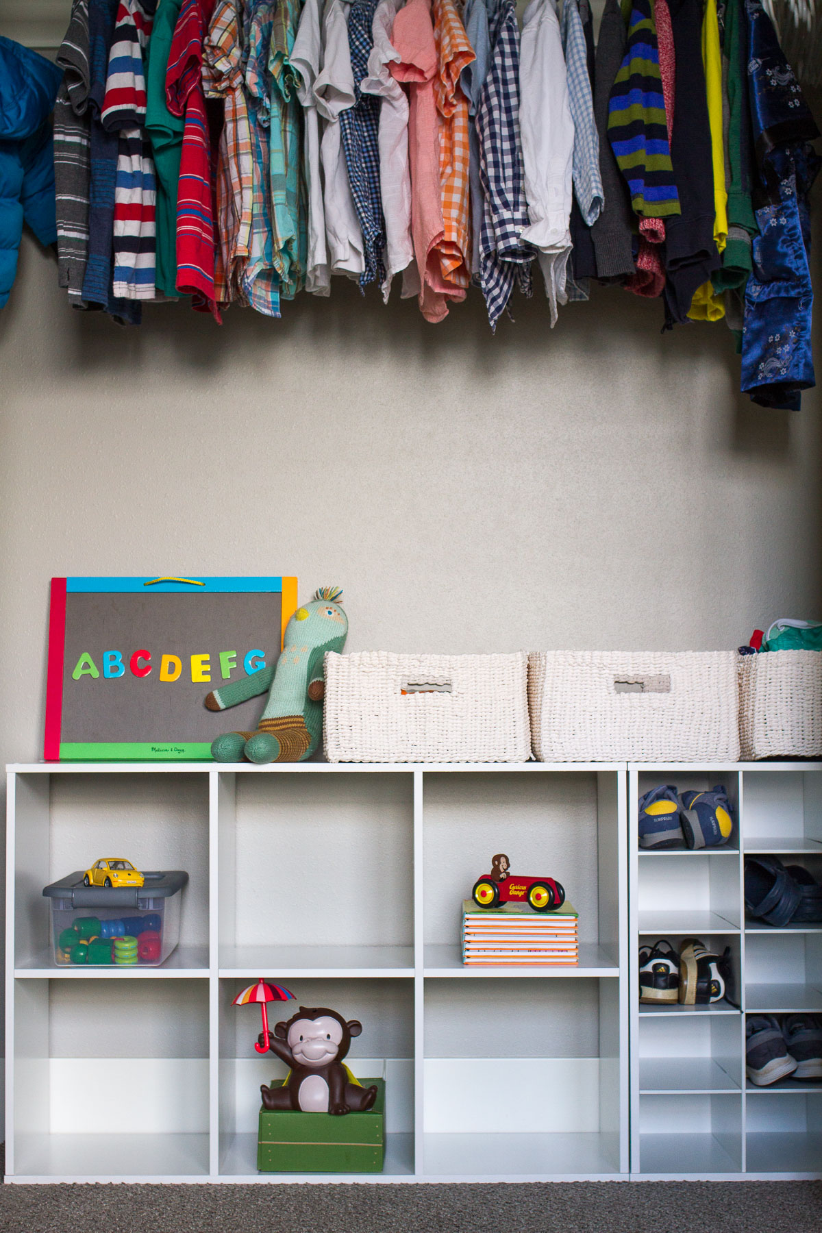 I'm vowing to keep my kids organized this school year, and I'm starting with their closets! See the three simple changes we made to keep our kids' closets organized.