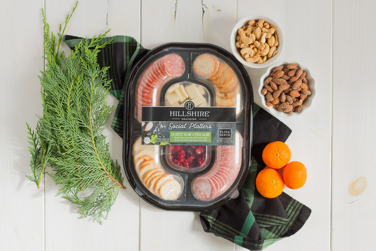 hillshire snacking social platters make holiday party prep a breeze!