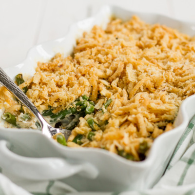 Green Bean Casserole is a Thanksgiving classic