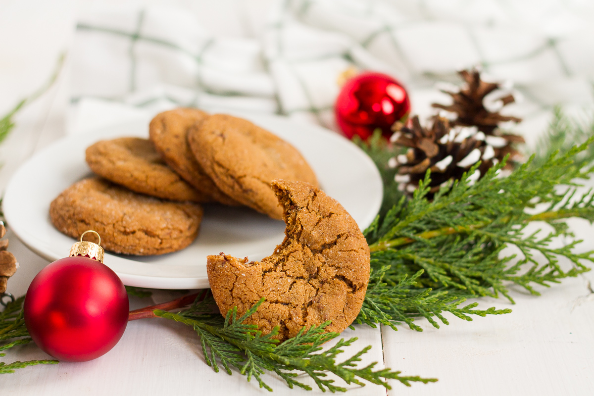 These chocolate chunk ginger cookies are perfect for the holidays!
