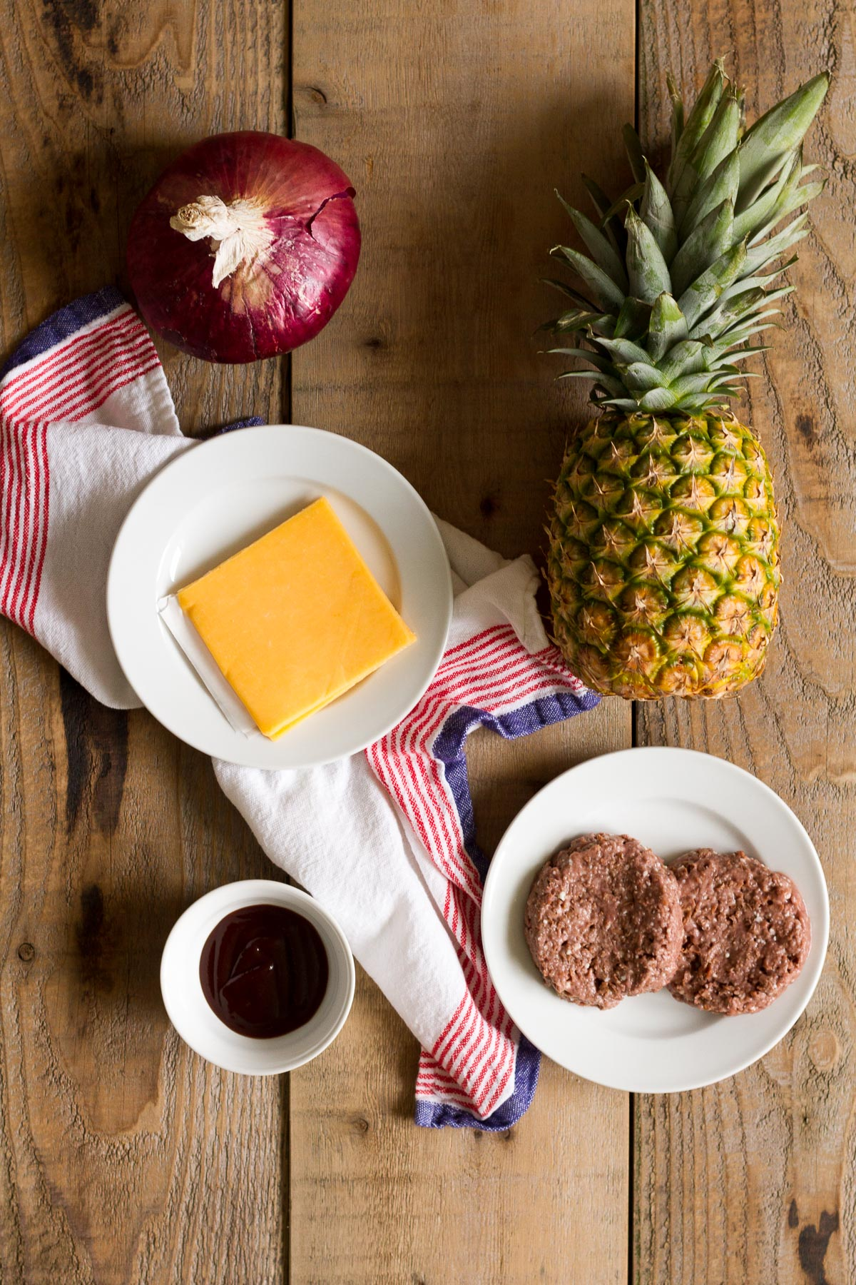 tropical bbq burgers ingredients