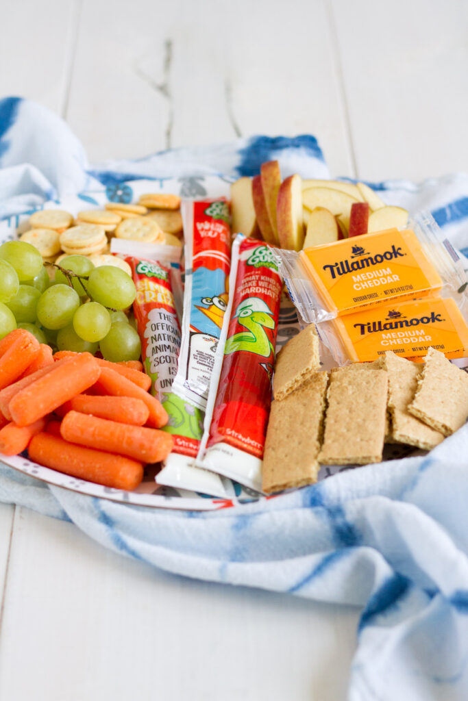Summer lunches are easy and fun when you make a snack tray with all your favorite snacks!