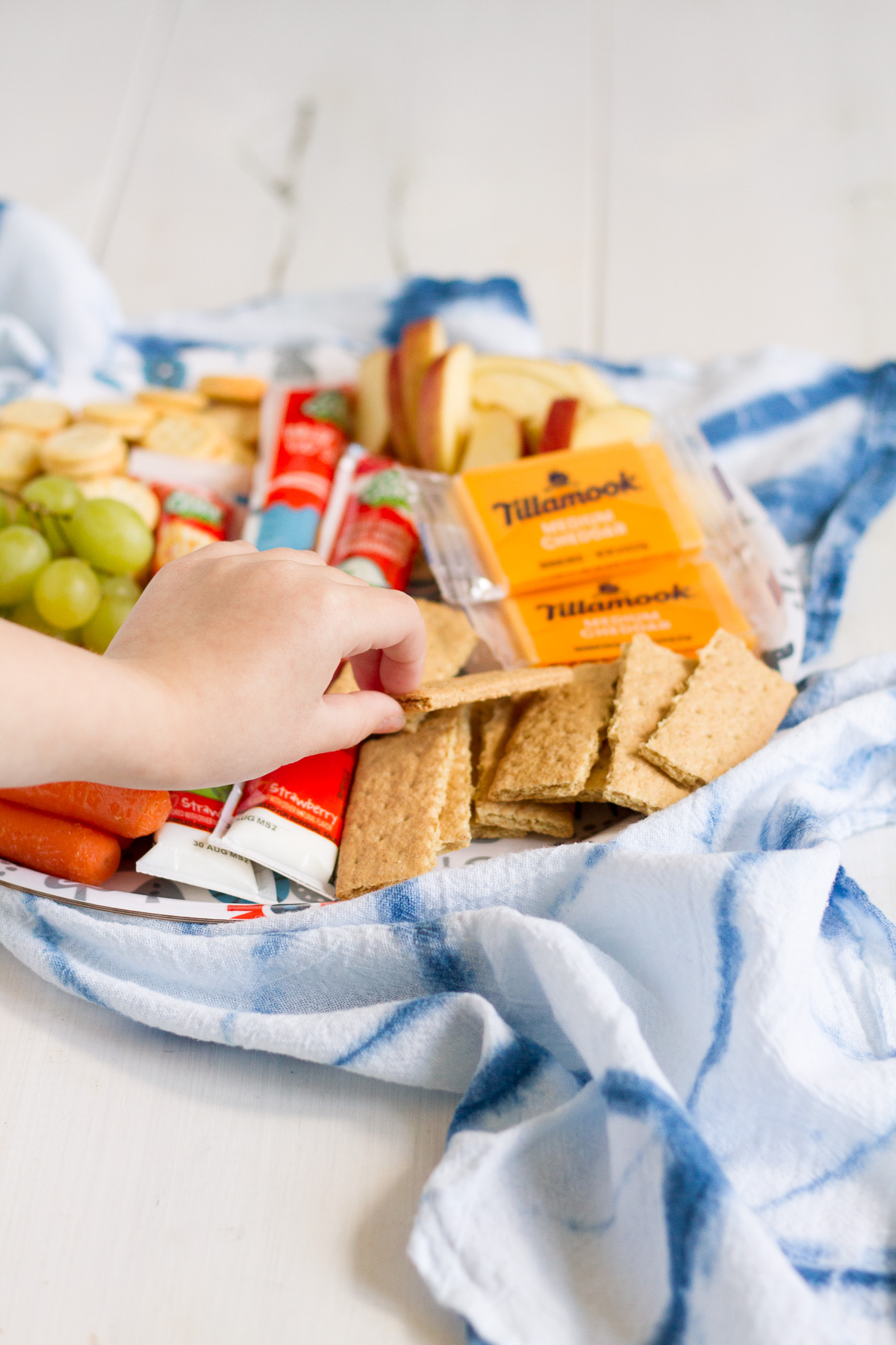 One of our favorite summer lunches is a snack tray with all of our favorites!