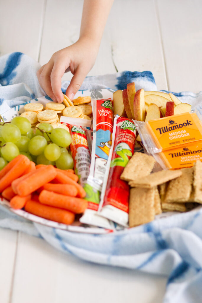 One of our favorite summer lunches is a snack tray loaded with our favorites!