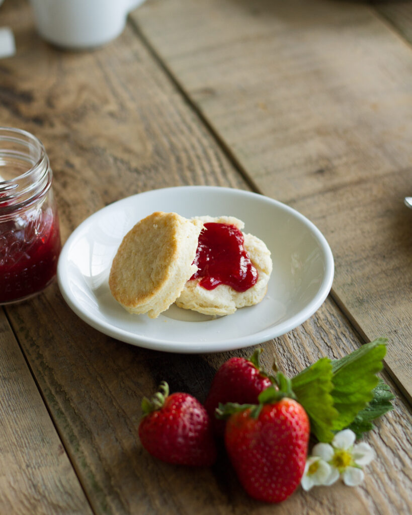 homemade buttermilk biscuits and jam farmhouse weekends